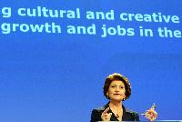 Press conference by Androulla Vassiliou, Member of the EC, on cultural and creative sectors for creative growth in the EU