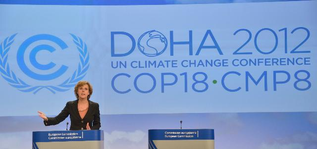 Press conference by Connie Hedegaard, Member of the EC, on the international climate negotiations in Doha