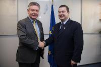 Visite d'Ivica Dačić, Premier ministre serbe et ministre de l'Intérieur, à la CE