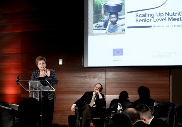 Participation of Andris Piebalgs and Kristalina Georgieva, Members of the EC, at the Scaling up Nutrition (SUN) Movement meeting