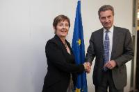 Visit of Arantza Tapia, Minister for Economic Development and Competitiveness of the Basque Government, to the EC