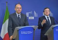 Visite d'Enrico Letta, président du Conseil des ministres italien, à la CE