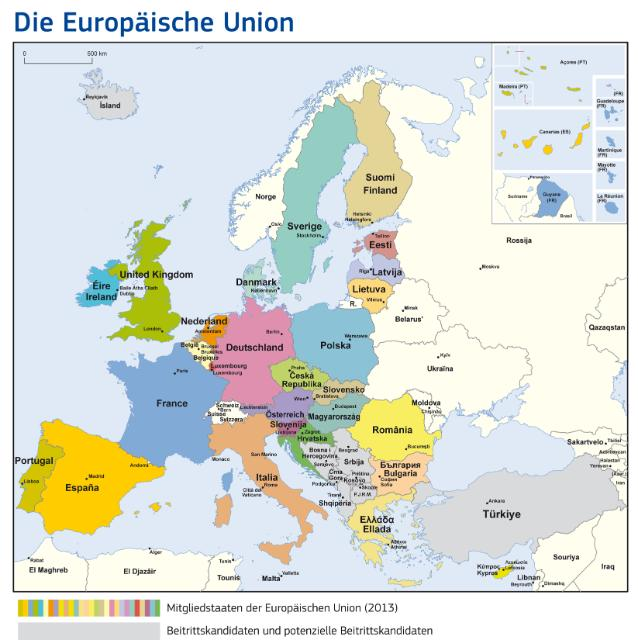 European Union map 2013