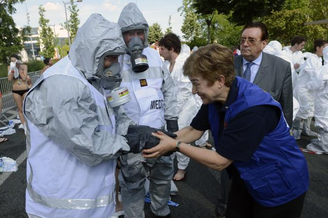 Participation of Kristalina Georgieva, Member of the EC, at a EU civil protection exercise, simulating a terrorist attack near Lyon