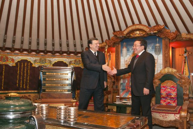 Visit of José Manuel Barroso, President of the EC, to Mongolia