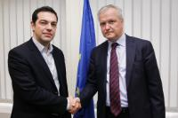 Meeting between Aléxis Tsípras, Member of the Greek Parliament and President of the political party Synaspismós, and Olli Rehn, Vice-President of the EC