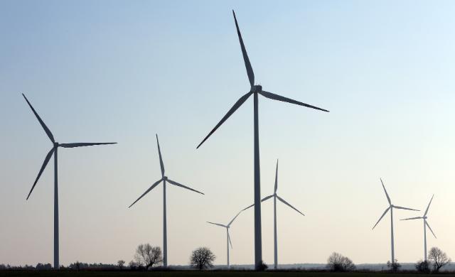 Wind farm in Golice, Poland