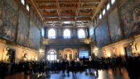 The public attending the launch of Erasmus+, at the Hall of the Five Hundred of the Palazzo Vecchio of Florence