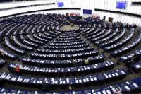 General view of the European Parliament hemicycle in Strasbourg during the valedictory speech by José Manuel Barroso