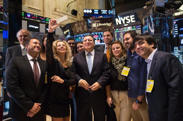 Visite de José Manuel Barroso, président de la CE, aux États-Unis