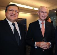 """Illustration of """"Visite de José Manuel Barroso, président de la CE, aux États-Unis"""""""