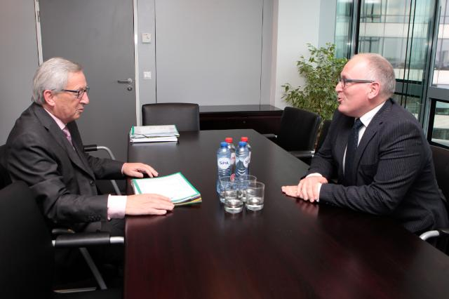 Meeting between Frans Timmermans, Dutch Minister for Foreign Affairs, and Jean-Claude Juncker, President-elect of the EC