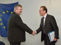 "Illustration of ""Visit of Kevin Cardiff, Member of the European Court of Auditors, to the EC"""