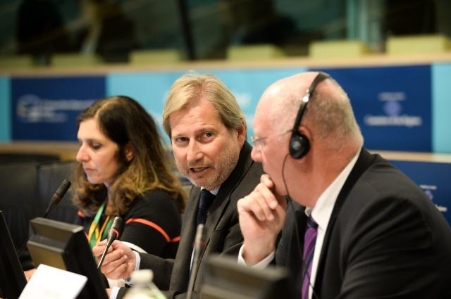 Joint press conference by Johannes Hahn, Member of the EC, and Michel Lebrun, President of the CoR, on the occasion of the opening of the Open Days 2014