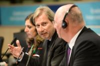"""Illustration of """"Joint press conference by Johannes Hahn, Member of the EC, and Michel Lebrun, President of the CoR, on the..."""