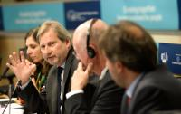 "Illustration of ""Joint press conference by Johannes Hahn, Member of the EC, and Michel Lebrun, President of the CoR, on the..."