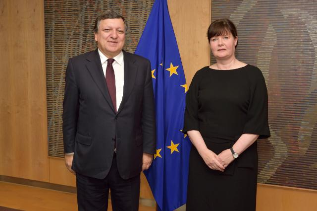 Présentation des lettres de créance des chefs de mission à José Manuel Barroso, président de la CE