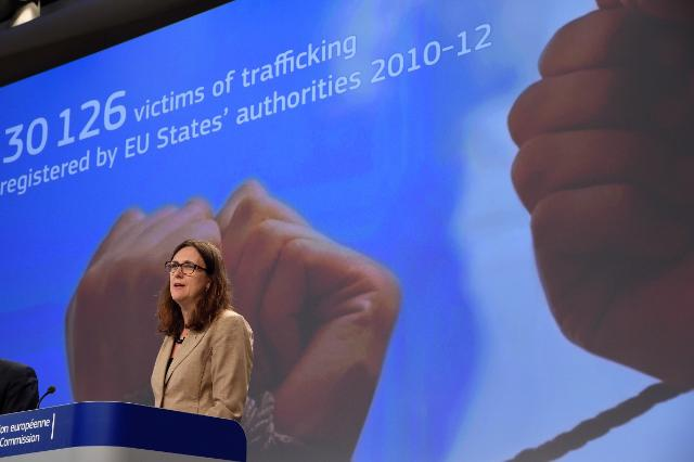 Press conference by Cecilia Malmström, Member of the EC, on the first evaluation report on the trafficking of human beings