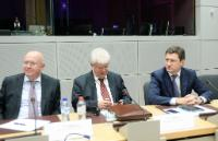 Vassily Nebenzia, Russian Deputy Minister for Foreign Affairs, Vladimir Chizhov, Head of the Mission of Russia to the EU, and Aleksandr Novak (from left to right)
