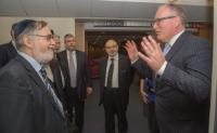 """Illustration of """"Visit of a delegation from the Conference of European Rabbis to the EC"""""""