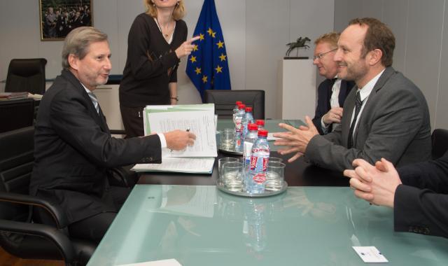Visite de Martin Lidegaard, ministre danois des Affaires étrangères, à la CE