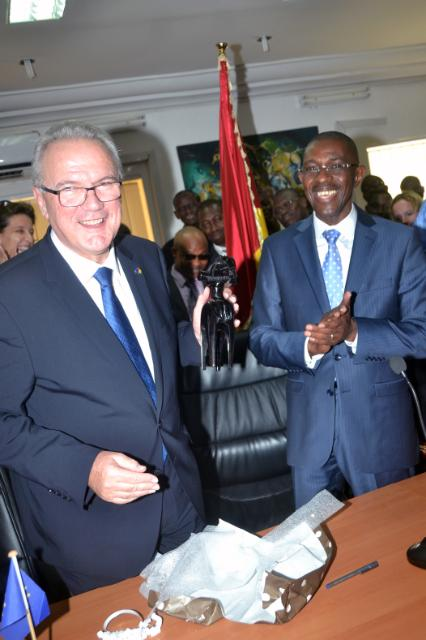 Visite de Neven Mimica, membre de la CE, en Guinée