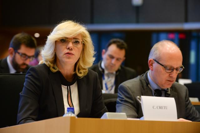 Participation of Corina Creţu, Member of the EC, at the EP Budgetary Control Committee on the 2013 Budget Discharge