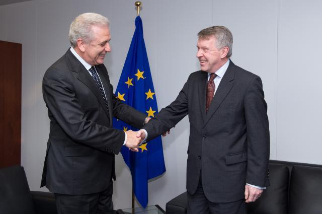 Visite de Mark Higgie, chef de la mission de l'Australie auprès de la Belgique, du Luxembourg, de l'UE et de l'OTAN, à la CE