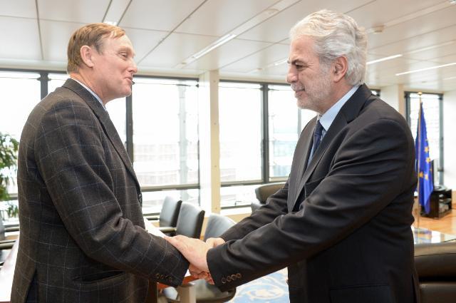 Visite de Nicolas Borsinger, président de l'ONG 'VOICE' à la CE