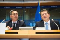 """Illustration of """"Participation of Maroš Šefčovič, Vice-President of the EC, in a meeting of the ENVI Committee of the EP"""""""