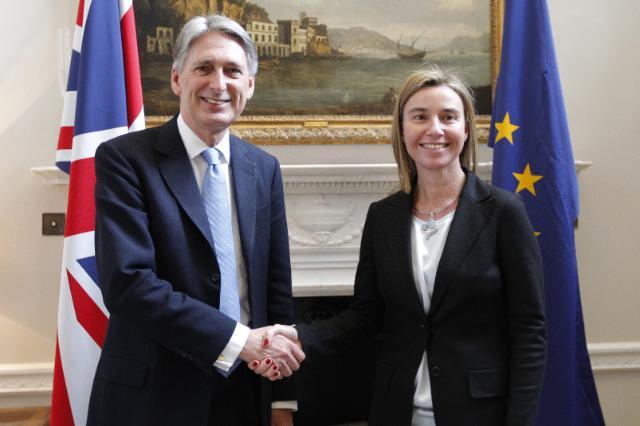 Visite de Federica Mogherini, vice-présidente de la CE, au Royaume-Uni