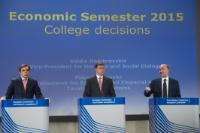 Joint press conference by Valdis Dombrovskis, Vice-President of the EC, and Pierre Moscovici, Member of the EC, following the decision of the College of the EC on the Economic Semester 2015