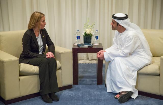 Visite de Federica Mogherini, vice-présidente de la CE, en Égypte