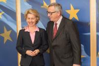 Visite d'Ursula von der Leyen, ministre fédérale allemande de la Défense, à la CE