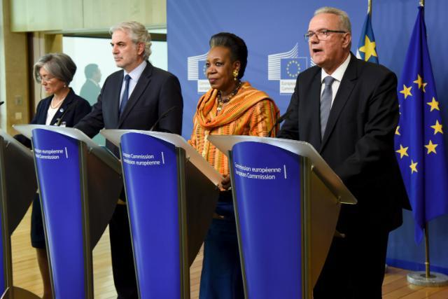Conférence de presse conjointe à l'issue de la conférence internationale sur la République centrafricaine 'de l'humanitaire à la résilience', Bruxelles, 26/05/2015