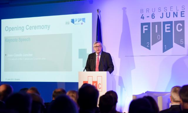 Participation of Jean-Claude Juncker, President of the EC, in the European Construction Industry Federation Congress