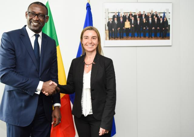 Federica Mogherini received Abdoulaye Diop, Malian Minister for Foreign Affairs, African Integration and International Cooperation