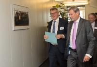 Visite de Nicolas Schmit, ministre luxembourgeois du Travail, de l'Emploi et de l'Économie sociale et solidaire, à la CE