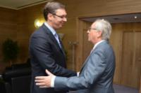 Visite de Aleksandar Vučić, Premier ministre serbe, à la CE