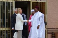 Visite de Federica Mogherini, vice-présidente de la CE, au Niger