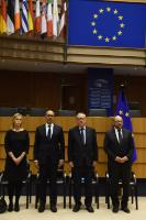 Participation of Jean-Claude Juncker, President of the EC, and Federica Mogherini, Vice-President of the EC, in the commemorative ceremony at the EP in honour of the victims of the terrorist attacks in Paris