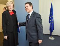 Visite de Emiliano Garcia-Page, président du gouvernement régional de Castille-La Manche, à la CE