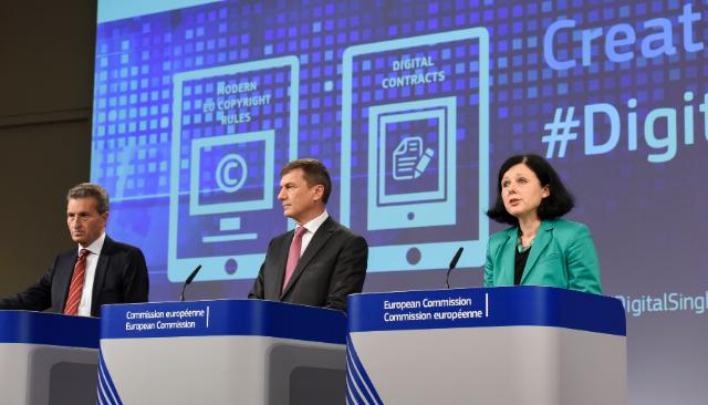 Joint press conference by Andrus Ansip, Vice-President of the EC, Günther Oettinger and Vĕra Jourová, Members of the EC, on the conclusions of the weekly meeting of the Juncker Commission
