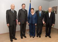 Visite d'Albrecht von Boeselager, Grand Chancelier de l'Ordre de Malte, à la CE