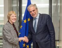 Visite de Karen Koning AbuZayd, conseillère spéciale des Nations unies pour le Sommet sur la réponse aux mouvements importants de réfugiés et les migrants