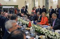Visite de Federica Mogherini, vice-présidente de la CE, et de Johannes Hahn, membre de la CE, à Ankara