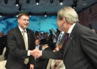 Visite de Valdis Dombrovskis, vice-président de la CE, en Ukraine