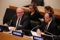 Visit of Frans Timmermans, First Vice-President of the EC, to New York