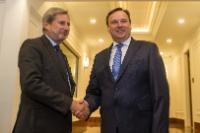Visite de Johannes Hahn, membre de la Commission européenne à Skopje