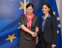 Visite d'Ana Birchall, ministre déléguée roumaine aux Affaires européennes, à la CE